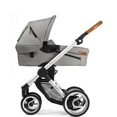 Kombi-Kinderwagen Evo urban nomad, light grey, Gestell silver, 2015