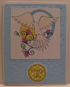 """Card crafted by Rhonda Zmikly of Bumblebee Creations, using """"Dove"""" digi stamp by Diana Garrison"""