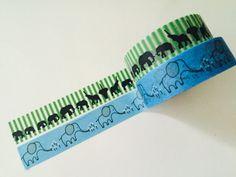 Elephant Washi Tape in 2 Patterns by GoatGirlMH on Etsy