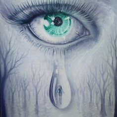 Tears, oil on canvas painting
