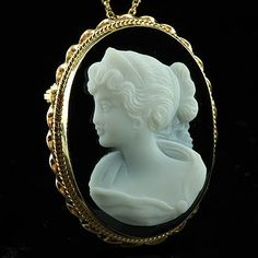 Antique and Vintage cameo | Vintage Antique Reproduction Oval Cameo