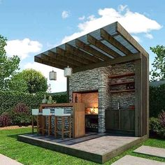 New Ideas For Diy Outdoor Kitchen Bar Patio Diy Outdoor Bar, Outdoor Kitchen Bars, Outdoor Kitchen Design, Outdoor Rooms, Outdoor Living, Outdoor Decor, Outdoor Kitchens, Patio Kitchen, Bar Kitchen