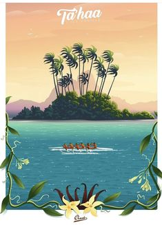 Tahiti, Art Deco Posters, Vintage Travel Posters, French Polynesia, Scotland, Travel Things, Movie Posters, Illustrations, Friends