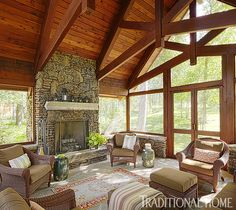 Sophisticated Family Cabin in the North Woods | Traditional Home