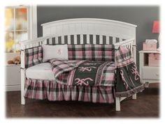 Browning Buckmark Plaid Crib Bedding Collection - 3-Piece Crib Set