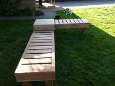 We Made Two Benches And A Small Table To Connect The L Shape