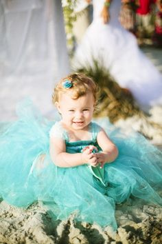 Tiffany Blue flower girl dress  #tiffany #blue #wedding  www.BrassTacksEvents.com  www.facebook.com/BrassTacksEvents  www.twitter.com/BrassTacksEvent