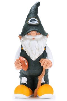 Green Bay Packers Garden Gnome Male for sale online Packers Memes, Packers Funny, Packers Football, Treehouse Cottages, Gnome Statues, Gnome Garden, Detroit Lions, Pet Collars, Green Bay Packers