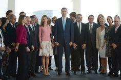 Los Príncipes de Asturias en la inauguración de la nueva sede corporativa de la empresa Puig, en el marco de la celebración del centenario de la fundación de la compañía