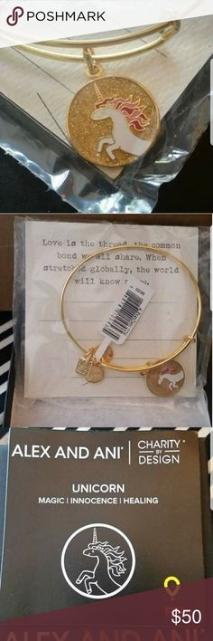 LIMITED EDITION-Alex and Ani Unicorn bangle! Charity by Design collection Unicorn bangle for the Children's Miracle Network ❤ brand new in box, never worn, only opened plastic to check product when arrived. #beautyful addition to your arm party! ☺ Alex and Ani Jewelry Bracelets