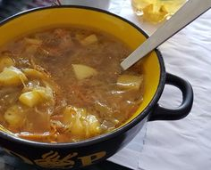 German Ground Beef Cabbage Soup