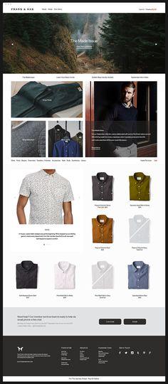 Web Design for Frank & Oak (2013-2014)