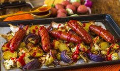 root vegetables cumberland sausages with roasted root vegetables ...
