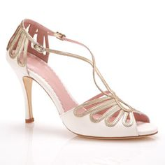 Great Gatsby bridal shoes