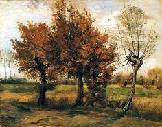 Autumn Landscape  (1885)  Vincent Van Gogh
