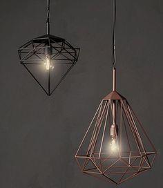 diamant koperen draadlamp - Google zoeken