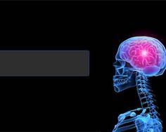 Free Brain Power Point Template with dark background