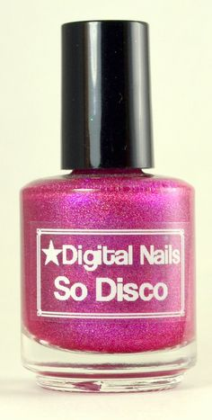 So Disco : Rose Tyler and  Doctor Who inspired holographic pink nail polish by Digital Nails