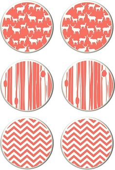 Coral wildlife chevron drawer knobs cabinet by BeachGurlBoutique, $24.00 Drawer Knobs, Cabinet Knobs, College Bedding, Chevron, Audi, Wildlife, Coral, Unique Jewelry, Handmade Gifts