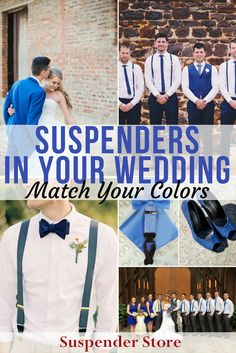 Find the perfect pair of suspenders fit for any occasion at SuspenderStore. Check out our endless selection, all made in the USA. They come in every color and pattern imaginable, for men, women, and children! Our Wedding Day, Wedding Wishes, Wedding Men, Wedding Groom, Wedding Suits, Wedding Attire, Fall Wedding, Rustic Wedding, Dream Wedding
