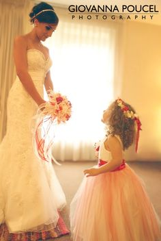 wedding, mom and daughter wedding in red #flowergirl #momanddaughter #wedding