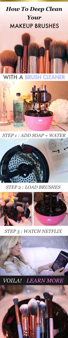 This looks so cool!!! But a bit too much money when you can just buy a $15 brush cleanser