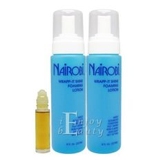 Nairobi Wrappit Shine Foaming Lotion 8oz Pack of 2 w Rollon Body Oil ** Check out the image by visiting the affiliate link Amazon.com on image.
