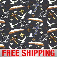 Religious fabric-bible scriptures-Cotton quilting fabric-bible ... : religious quilting fabric - Adamdwight.com