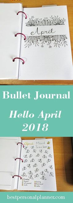 Bullet Journal - Hello April Cover month for your bullet journal ideas, #bulletjournal #bulletjournalideas #journaling #doodle #drawing #draw #bulletjournalspreads