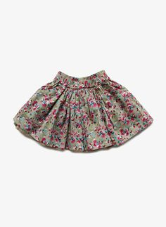 Arsene et Les Pipelettes Girls Floral Print Skirt