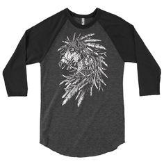 3/4 sleeve raglan shirt Horse