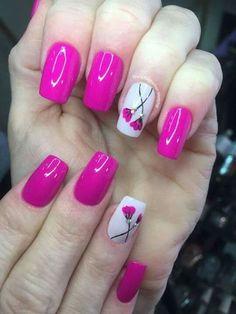39 ideias de unhas inspiradas no grupo unhas decoradas nails ногти, дизайн Aqua Nails, Red Nails, Bright Pink Nails, Perfect Nails, Gorgeous Nails, Spring Nails, Summer Nails, Mickey Nails, Finger Nail Art
