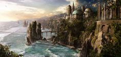Welcome to MattePainting Org Fantasy city Fantasy landscape Fantasy castle
