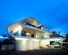 Preisgekrönte nachhaltige Architektur nachtbeleuchtung