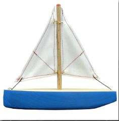 Hand-made, hand-painted wooden boat from Germany!  #OG2146B #magicforesttoys #ogas