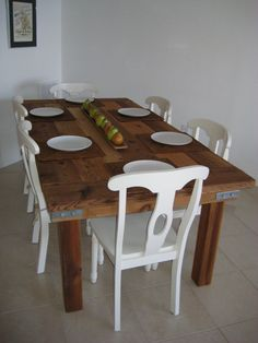 Beautiful Rustic Wooden Table by lamujerdepaja on Etsy, $3000.00