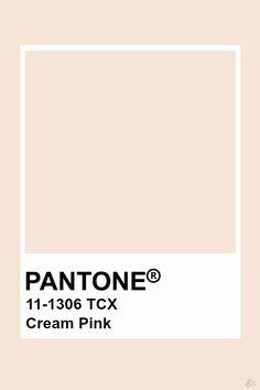 Pantone Cream Pink