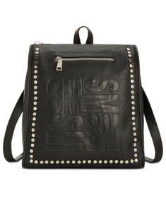 fa46d426b2ae Steve Madden Marlon Logo Backpack - Black Small Backpack