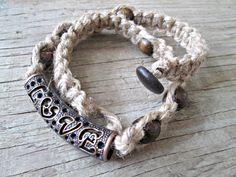 Valentine's Day Jewelry  Hemp Love Necklace  by EarthChildArt
