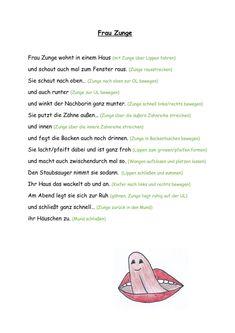Frau Zunge (MuMo-Gedicht) - Mundmotorik - Kindergarten - Design de Logotipos e Identidades Kindergarten Portfolio, Robert Wise, Oral Motor, Teacher Appreciation Gifts, Toddler Preschool, Logo Nasa, Social Platform, Motor Skills, Lettering