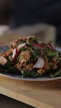 Think salads are boring? Add deep fried ramen noodles to them.