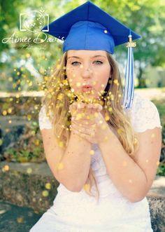 Senior pictures: glitter shot