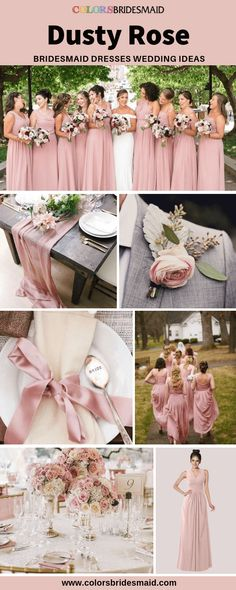 affd8bb541d The top 12 Dusty pink bridesmaid dresses images