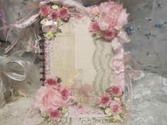 A Beautiful Shabby Chic Styled Journal. Measurements: 8 Inches in Length by 6 Inches in width. Colors:  Pink, Green, Blue, Yellow, White, Rose. For Sale:  $15.00 with $5.99 shipping fee. SoShabbyChicBoutique by So Shabby Chic Boutique on Etsy