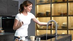 KOHLER | Sensate™ Touchless Kitchen Faucet. Response™ technology makes Sensate respond to your every move. Simply wave your hand--or an object such as a pan or kitchen utensil—to turn Sensate on or off. Its state-of-the-art sensor is in tune with your every move, precision-designed to provide reliable operation every time. So there's no need to worry about false activations when you're working in the sink area.