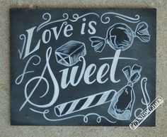 Candy Bar Sign Wedding Candy Sign Candy by customchalk on Etsy, $39.00