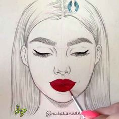 AMAZING ART MAKEUP DRAWINGS TUTORIAL These are simply so satisfying! Never getting out of the outline!<br> Makeup Drawing, Cat Drawing, Outline, Drawing Skills, Drawing Techniques, Drawing Tips, Drawing Ideas, Art Drawings Sketches, Horse Drawings
