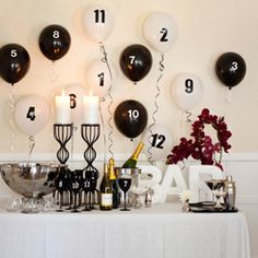 countdown balloons
