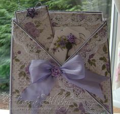Craftingallday Creations: Lilac Criss Cross Card