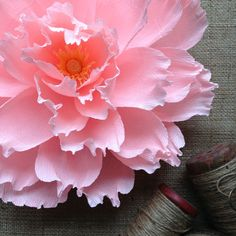 """Oversized Paper Flower: Crepe Paper Wall Flora in Baby Pink, 12"""" diameter by AmaranthusPaperFlora on Etsy https://www.etsy.com/listing/226063141/oversized-paper-flower-crepe-paper-wall"""
